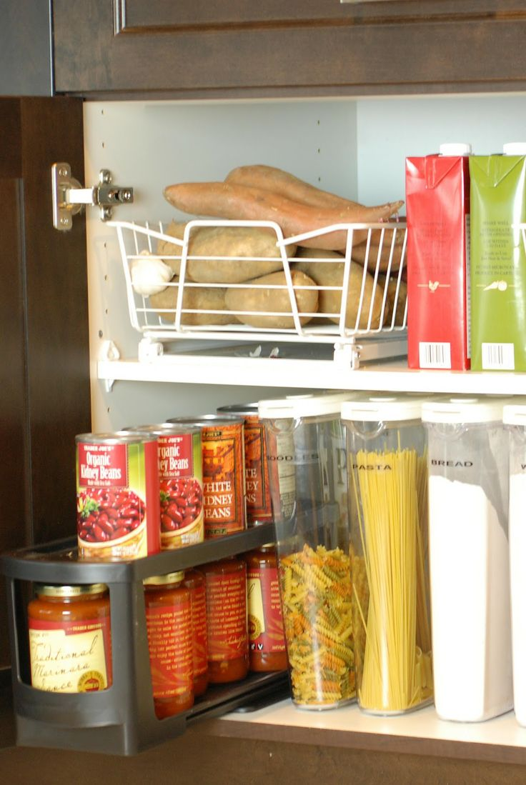 Kitchen Organization Pantry Cabinet Home Decor To Do Pinterest