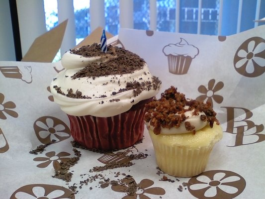 My favorite cupcake! Red velvet with cream cheese frosting and ...