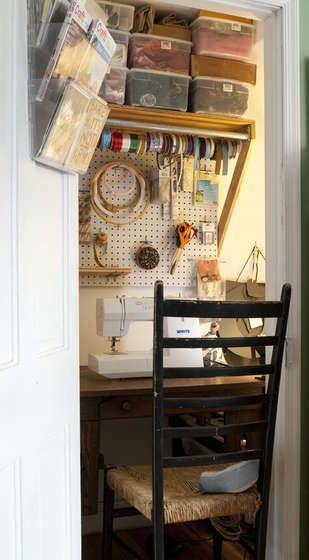 Closet Sewing Space Dream House Pinterest
