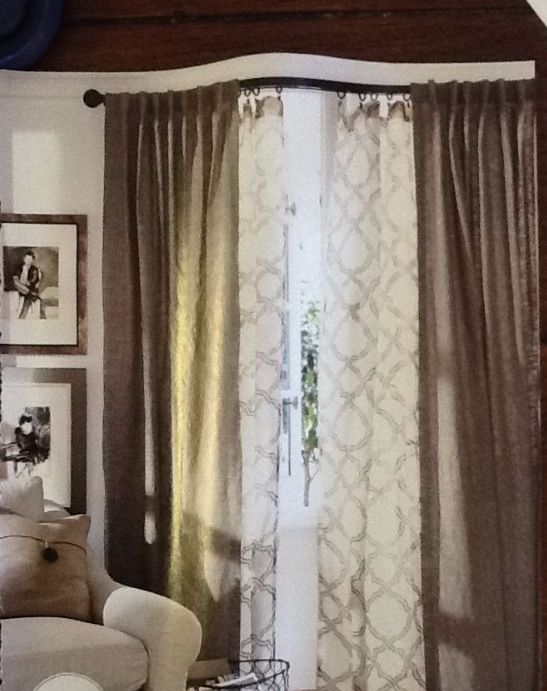 Layered curtains | For the Home | Pinterest