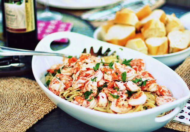 Simple Shrimp Scampi | Healthy Eats | Pinterest