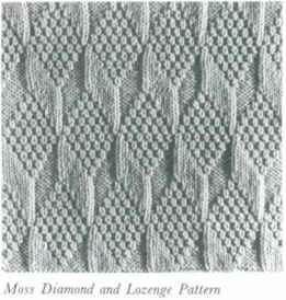 Moss Diamond And Lozenge Pattern. Reminds me of the Tumbling Blocks