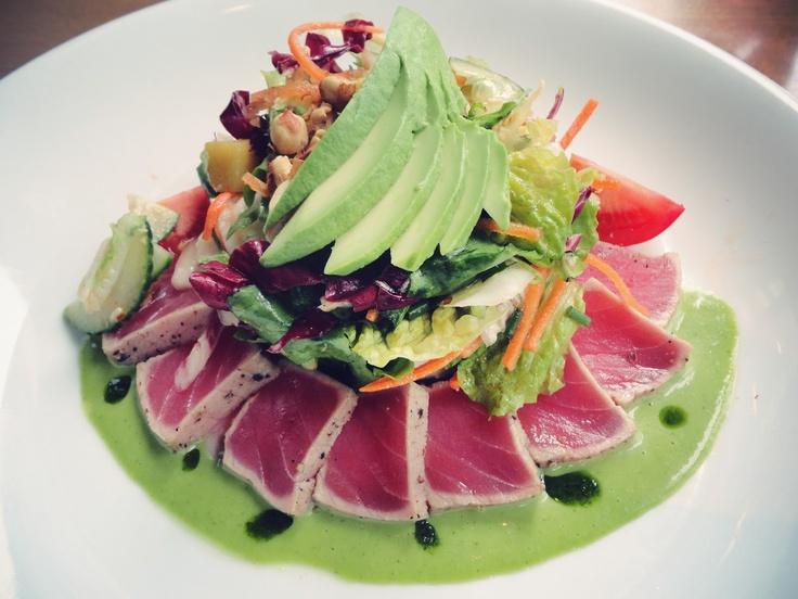 Gorgeous sashimi tuna and avocado salad. | Sushi | Pinterest