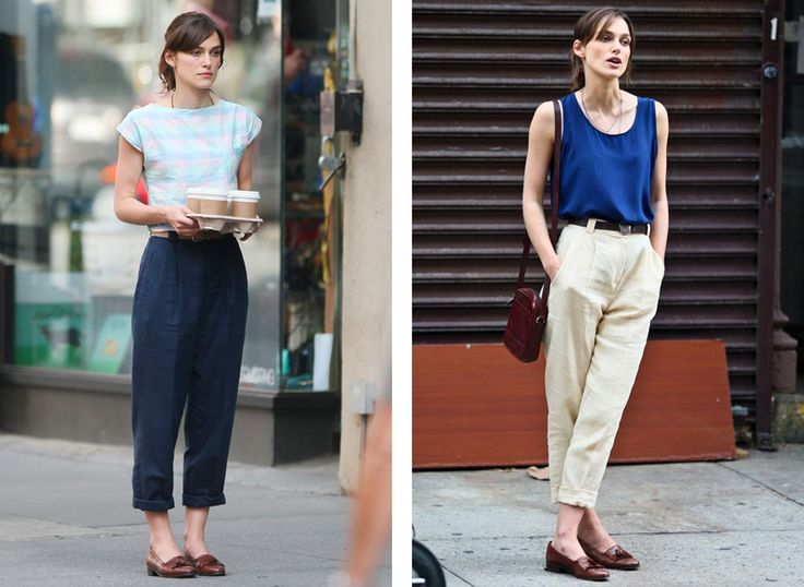 cropped high-waisted pleated pants in 'begin again'