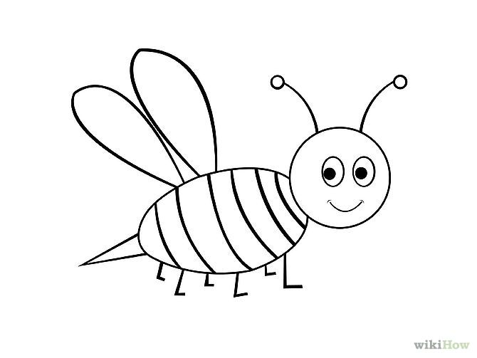 How to draw a bumble bee - photo#16