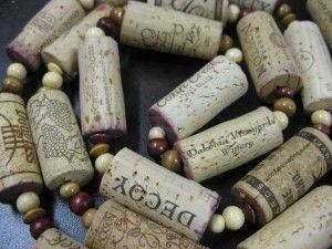 DIY Wine Cork Garland: http://www.snooth.com/articles/diy-wine-cork-and-bottle-crafts/