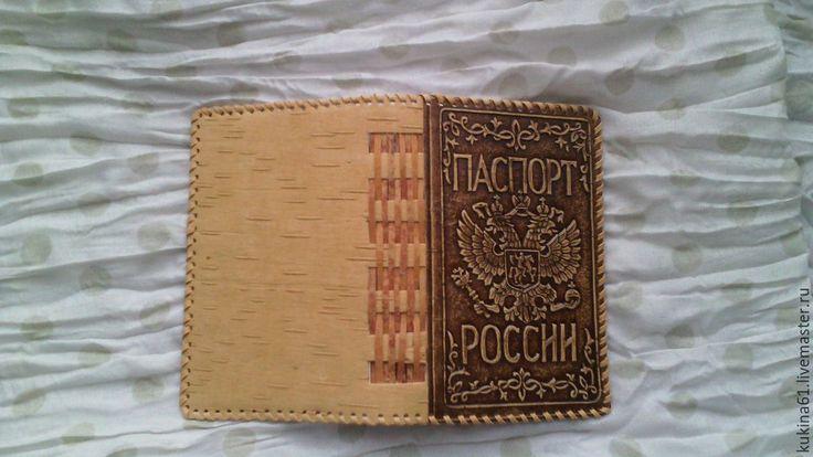 Обложка для паспорта из бересты своими руками 55