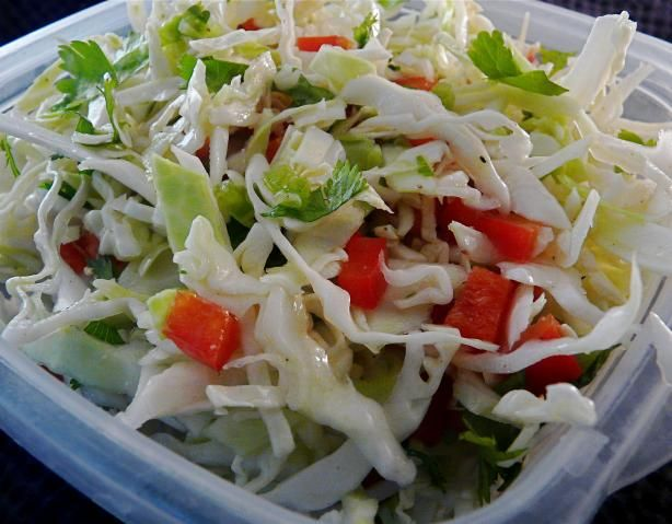 Cilantro & Jalapeno Coleslaw from Food.com: Light healthy slaw to ...