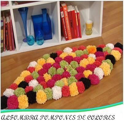 Alfombra de pompones adornos para el hogar pinterest - Alfombras para el hogar ...