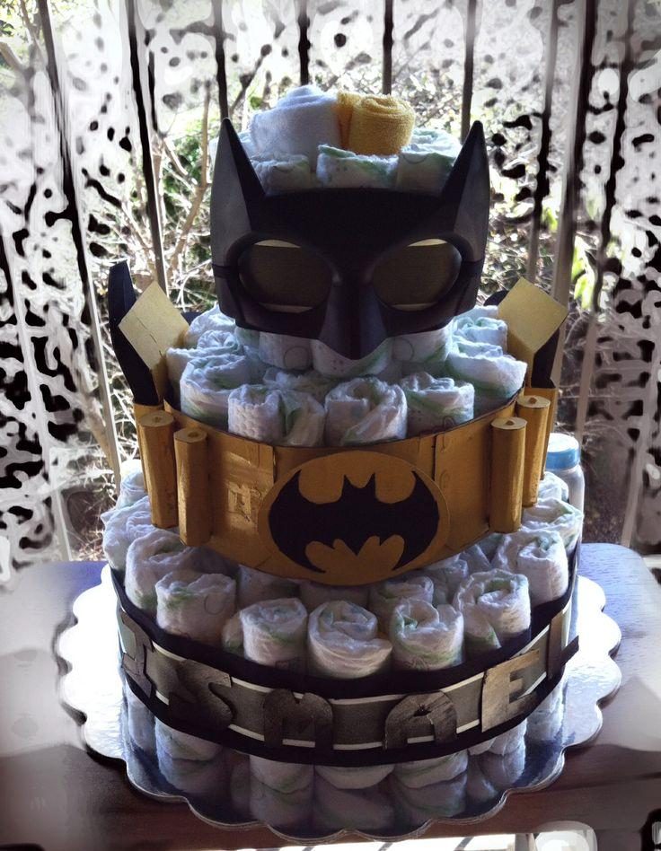 batman diaper cake baby shower pinterest