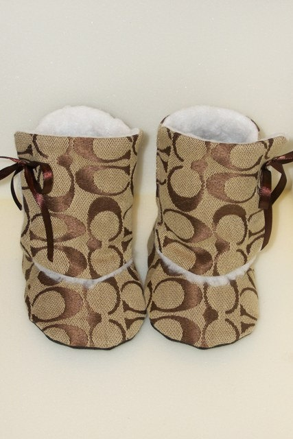 Inspired Toddler Baby Boots with Faux Fur Lining by SewFreaknFab, $39