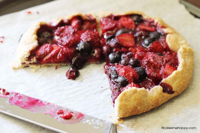 It Bakes Me Happy: Mixed Berry Galette | Desserts!!!! | Pinterest