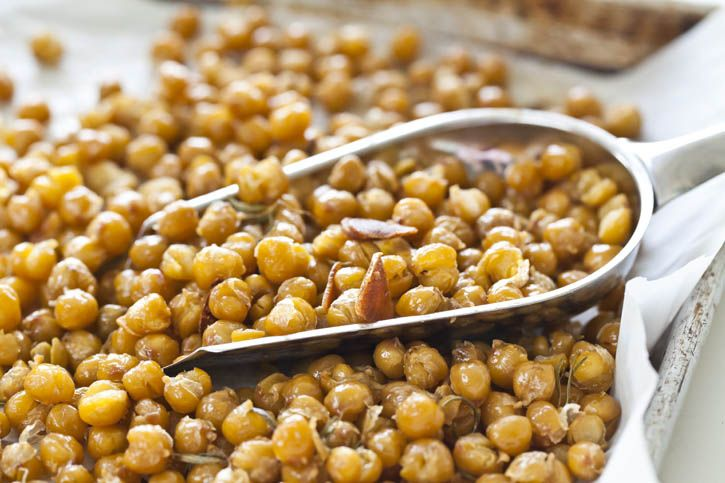 Chickpea Poppers - Just made and irresistible!! Drizzle with EVOO ...