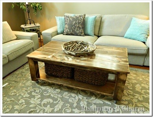 Do It Yourself Rustic Coffee Table For The Home Pinterest