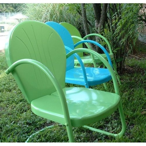 Lime Retro Metal Lawn Chair Summer Colors
