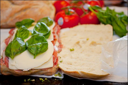 Pressed Picnic Sandwiches: 1 large loaf of ciabatta bread, sliced ...