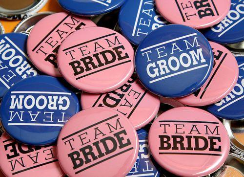 Team Bride & Team Groom Badges