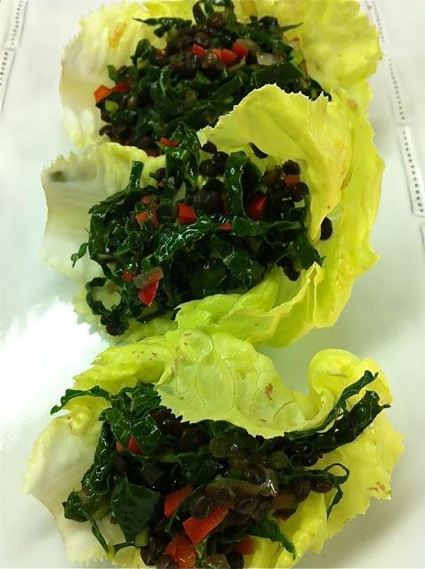 spicy kale & lentil salad | Food | Pinterest