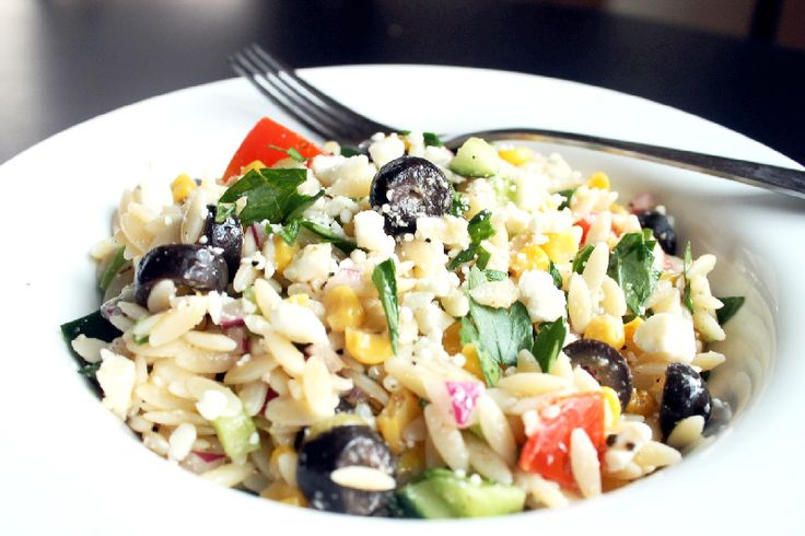 Orzo Pasta Salad with Oven Roasted Corn | Salads | Pinterest