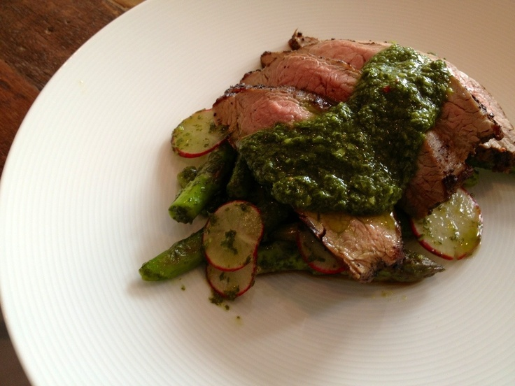 ... , Hutten sugar snap peas and 4Seasons radishes with chimichurri