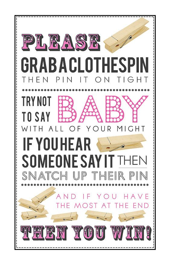 baby shower clothespin game