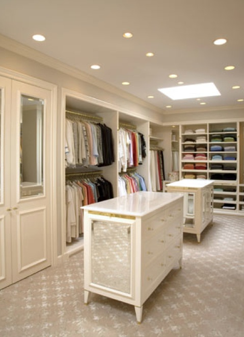 Spacious, stylish closet designed by Clos-ette and Clos-ette Too founder, Melanie Fascitelli http://bit.ly/xXEciC #luxury #closet #organize #celebritycloset #designer
