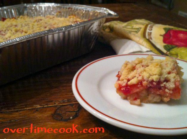 apple-cherry crumb cake