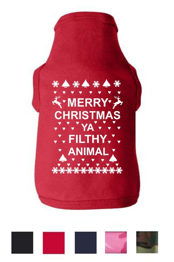 Merry christmas ya filthy animal dog shirt happy by teestoplease 13