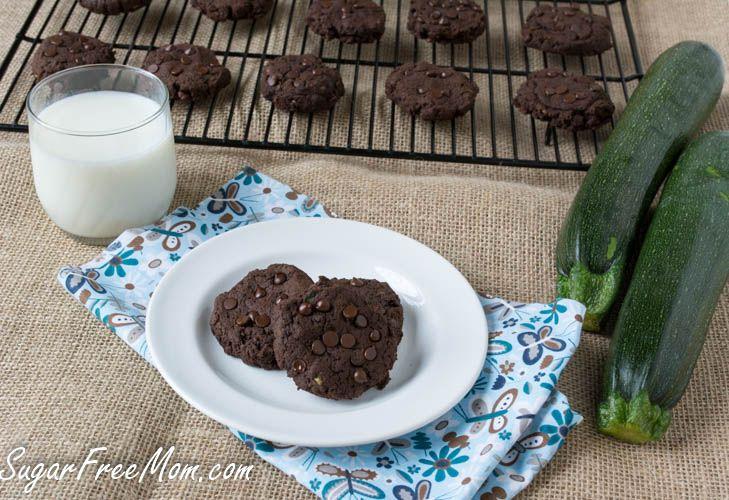 Sugar- Free Chocolate Fudge Zucchini Cookies | Recipe