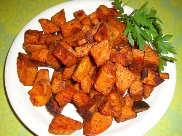 Spicy Chipotle-Cinnamon Roasted Sweet Potatoes. Photo by Chef*Lee