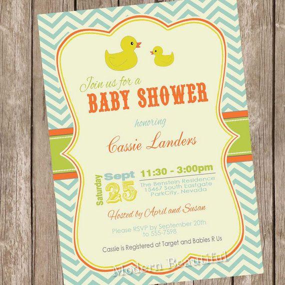 rubber ducky baby shower invitation rubber duckie baby shower invita