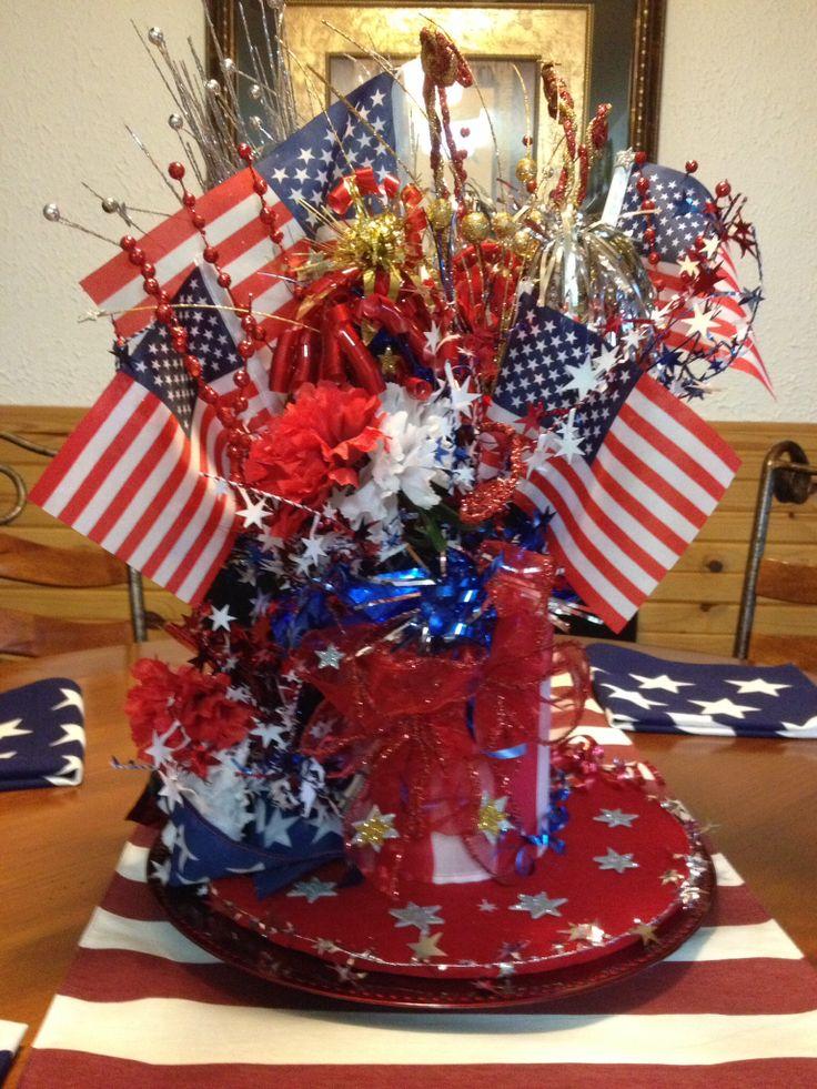 Patriotic Centerpiece Crafty Pinterest