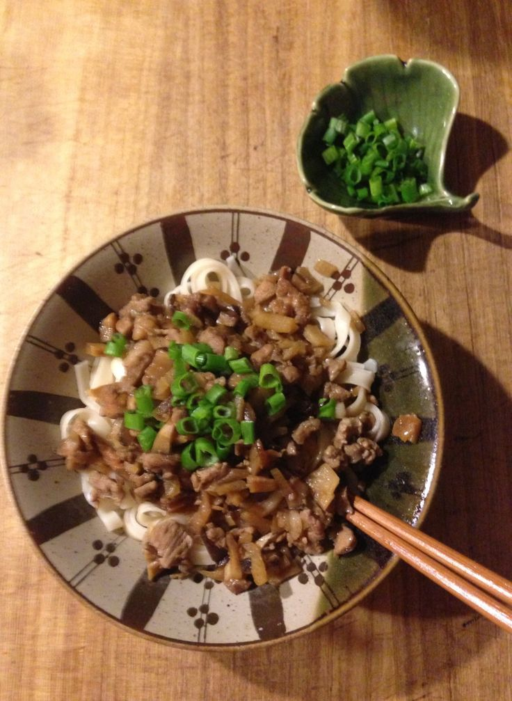 Taiwanese Noodles & Meat Sauce My family like it. Recipe can be found ...