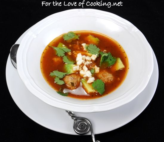 Mexican Meatball Soup | For the Love of Cooking Looks like it would be ...
