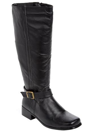 Randi Wide-Calf Leather Boots by Comfortview
