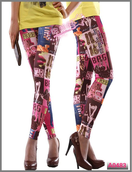 Super Star Women Printing Leggings LML0055 Cheap Price Drop Shipping