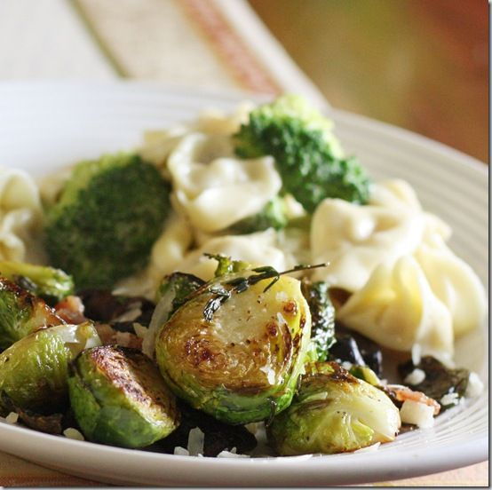 Sauteed brussel sprouts - I left off the parmesan cheese, but this was ...
