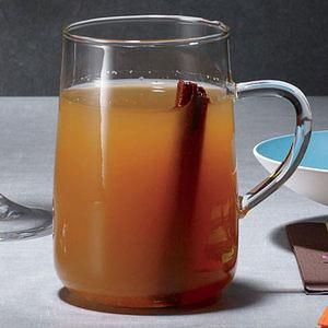 Mulled Hot Cider with Calvado and a cinnamon stick - perfection!
