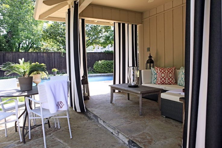 Outdoor Curtains Patio Pool Patio Pinterest