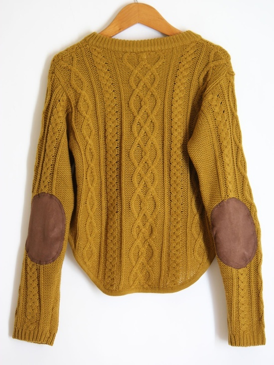 Sweater High Neck High Low Cable Knit Sweater