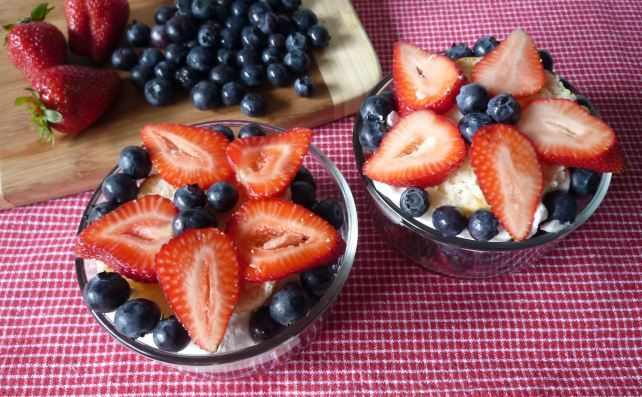 ... Drop Biscuits , Fresh Strawberries, Blueberries, and Delightful