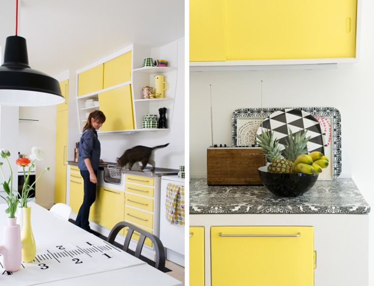 Yellow Kitchen With White Walls Kitchen Ideas Pinterest