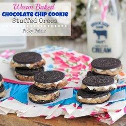 Warm Baked Chocolate Chip Cookie Stuffed Oreos — Punchfork I think I ...