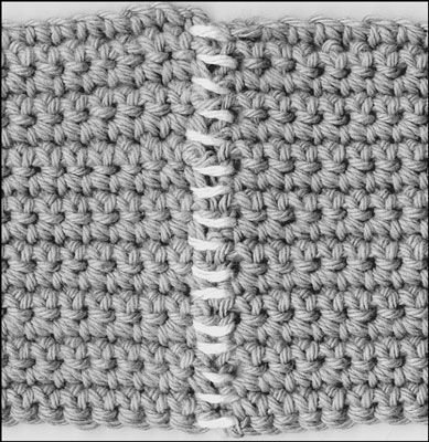 Crochet Stitches For Dummies : How to Join Crochet Seams with Whipstitch - For Dummies