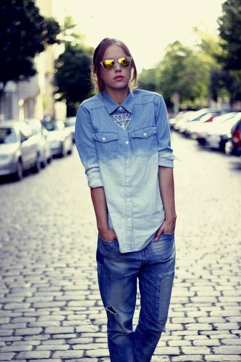 Inspiración en Denim; un look relajado con boyfrien jeans