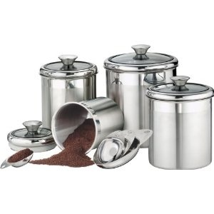 stainless steel canister set kitchen pinterest