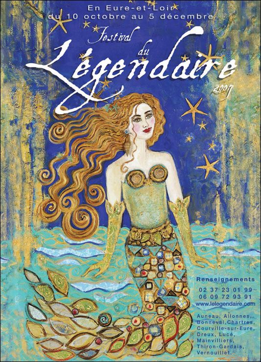 """ The Legendary Festival — 2007 "" ….. Poster for this 8th annual storytelling festival held in France … Poster designed by Anne Marie Zilberman"