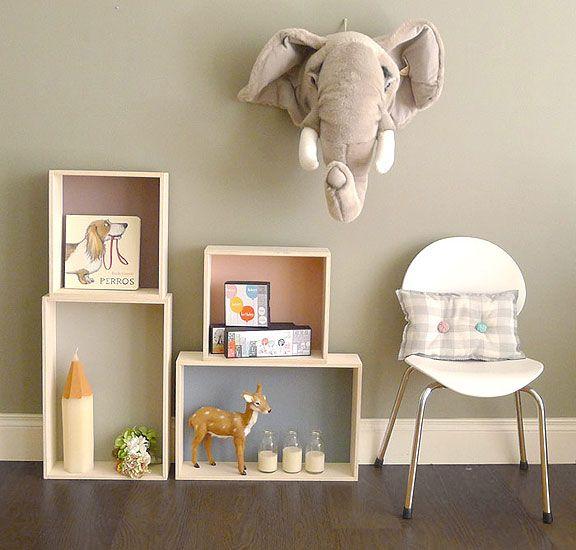 Ideas De Decoracion Para Dormitorios ~ Ideas de estanter?as para dormitorios infantiles  Muebles y