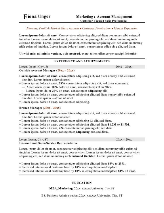 resume template customizable instant download design word docx
