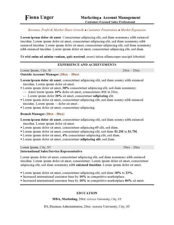 resume format docx
